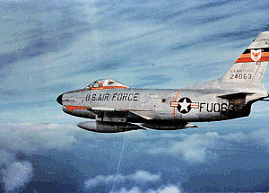 A F-86D fighter jet - similar to the one flown by Milton Torres