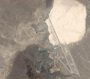 This picture shows the 6km runway at Area 51 - the longest runway in the World!