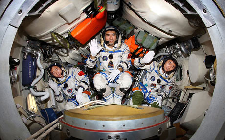 Chinese space crew.