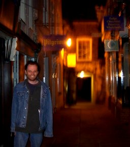 Andy Lloyd in Gloucester at night