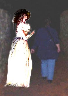 A reconstruction of the ghost which pushed one of our ghost tour guests